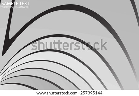 Silver abstract vector metallic background illustration - Curved vector abstract metal design  template - stock vector