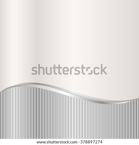silver and ecru background divided into two - stock vector
