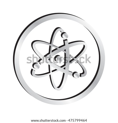 Silver Atomic Science Symbol Icon