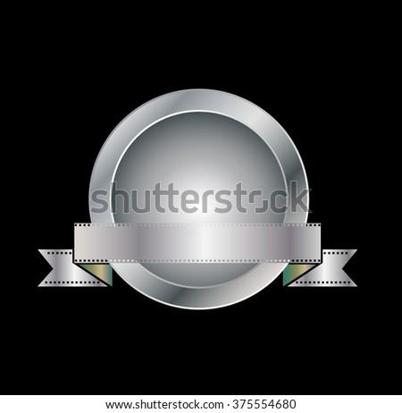 Silver Award . Vector Silver Award . Stamp Silver Award . - stock vector