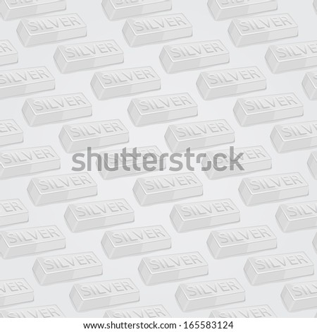 Silver Bars Seamless Vector Background Pattern - stock vector