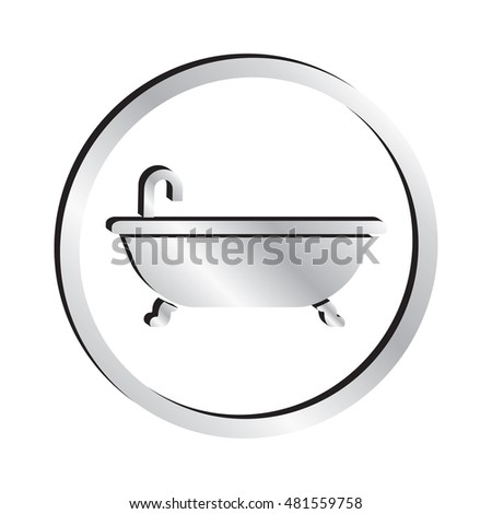 Silver Bathtub Icon