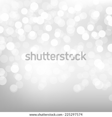 Silver Bokeh Poster With Gradient Mesh, Vector Illustration - stock vector