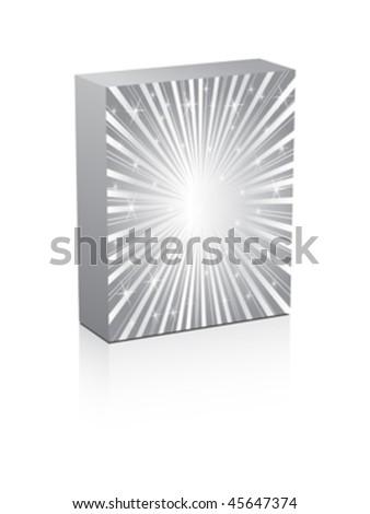 silver box - stock vector