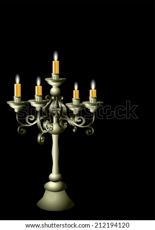 silver candelabrum with candles
