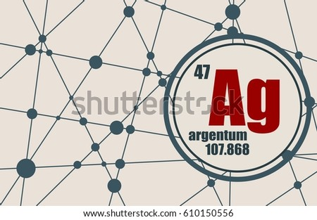 Silver chemical element sign atomic number stock vector 610150556 silver chemical element sign with atomic number and atomic weight chemical element of periodic urtaz Images