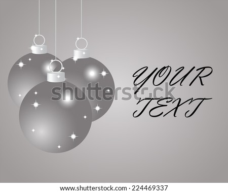 Silver Christmas balls on a silver background