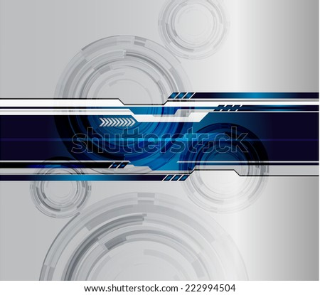 Silver Dark blue Light Abstract Technology background for computer graphic website internet and technology.  - stock vector
