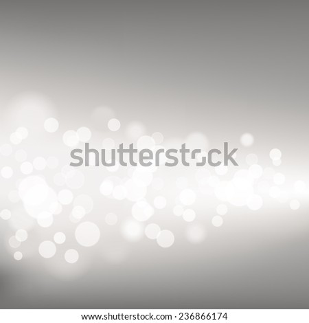 Silver Defocused Lights - Vector illustration of silver defocused lights across a dark grey background.   - stock vector
