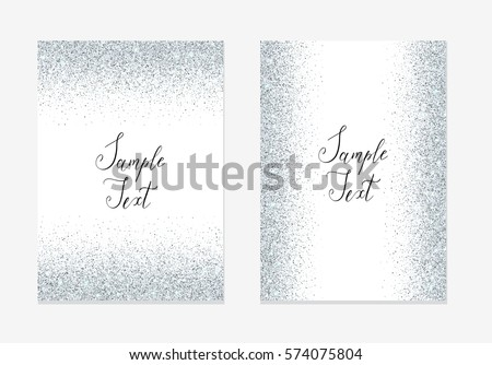 Silver glitter background silver sparkle frame stock vector silver glitter background silver sparkle frame template for holiday designs new year stopboris