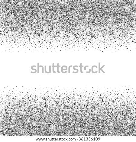 Silver glitter background silver sparkles on stock vector 361336109 silver glitter background silver sparkles on white background creative invitation for party holiday stopboris Image collections