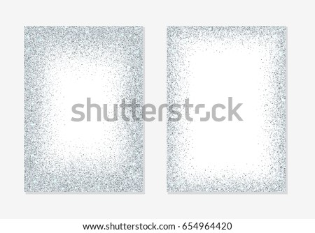 silver glitter holiday card backgrounds with sparkle dots confetti