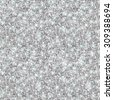 Silver Glitter Texture, Seamless Sequins Pattern. Vector Illustration. Lights and Sparkles. Glowing New Year or Christmas Backdrop. Silver Dust. - stock photo