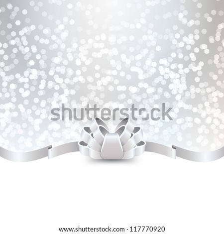 silver greeting card template - stock vector