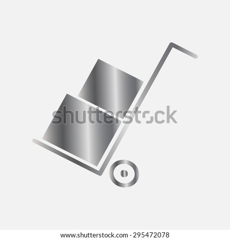 Silver  Icons set shipping and delivery  - stock vector