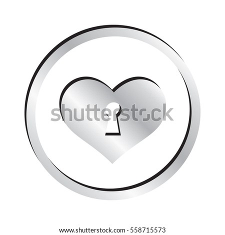 Silver Keyhole Heart Icon