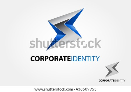 Silver Lighting Bolt Flash Logo Design Vector Element S Company And Symbol