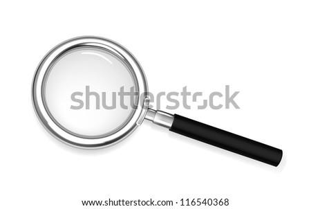 Silver loupe vector - stock vector