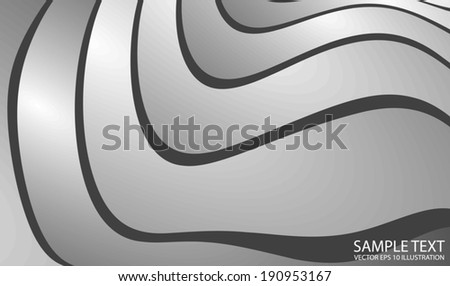 Silver metal vector background illustration - Metal curved design illustration background