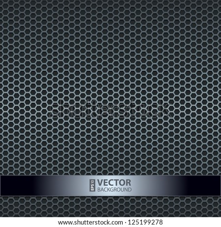 Silver metallic grid background. RGB EPS 10 vector illustration - stock vector