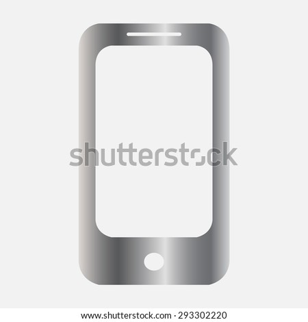 Silver Mobile phone icon