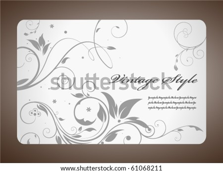 Silver ornamental card