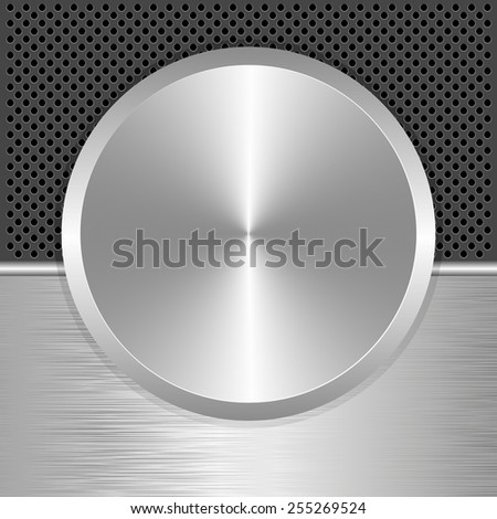 silver potentiometer as banner - stock vector