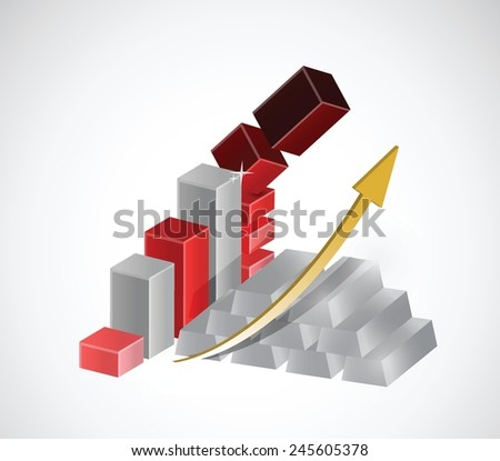 silver prices falling down concept illustration design over a white background - stock vector