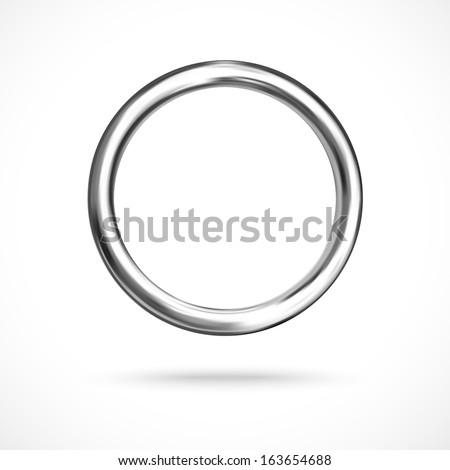 Silver ring copyspace torus round eps10 vector empty frame - stock vector