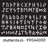 Silver Runic Script. Elder Futhark and Other Runes. Used all over Northern Europe till the XIII century. - stock vector