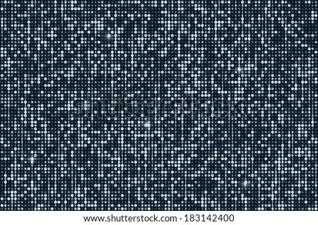 Silver seamless shimmer background with shiny silver and black paillettes. Sparkle glitter techno background. Glittering sequins club screen. Abstract technology background, - stock vector