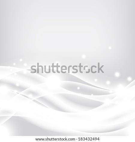 Silver smooth energy waves background for postcard - stock vector