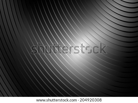 Silver striped vector metallic background illustration - Shiny metal vector background template - stock vector