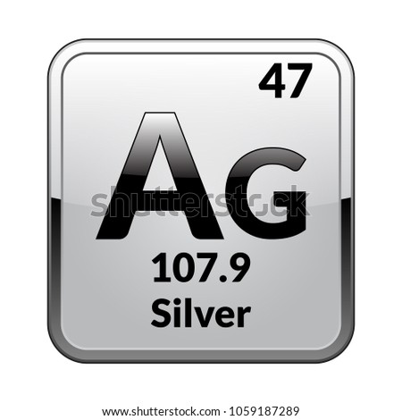Silver symbol chemical element periodic table on stock vector silver symbolemical element of the periodic table on a glossy white background in a urtaz Gallery