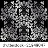 silver victorian background - stock vector