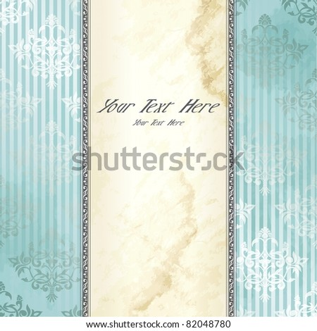 Silver Victorian vintage banner (eps10); jpg version also available - stock vector