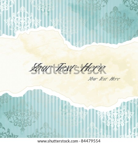 Silver Victorian wallpaper banner (eps10);  jpg version also available - stock vector