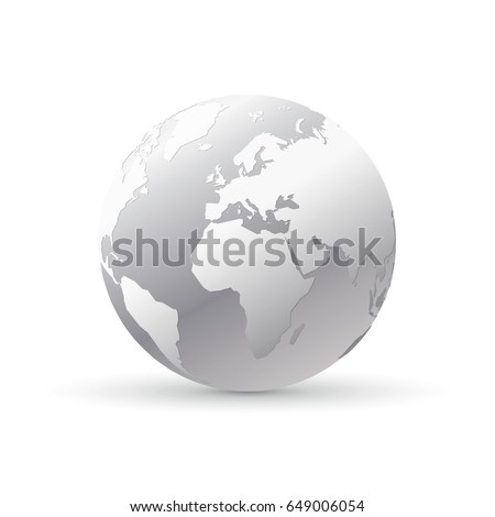silver world earth globe