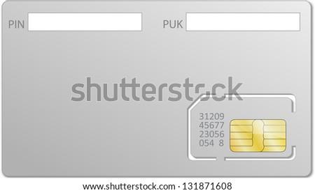 Sim card block - stock vector