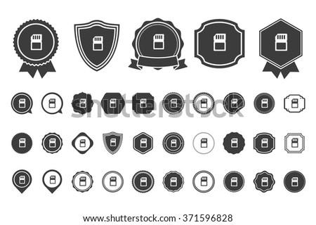sim card   icon - stock vector