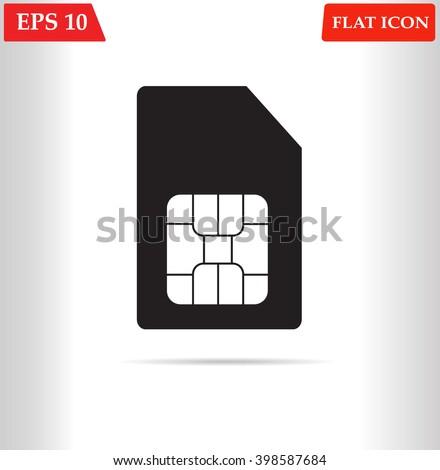 Sim card icon vector - stock vector
