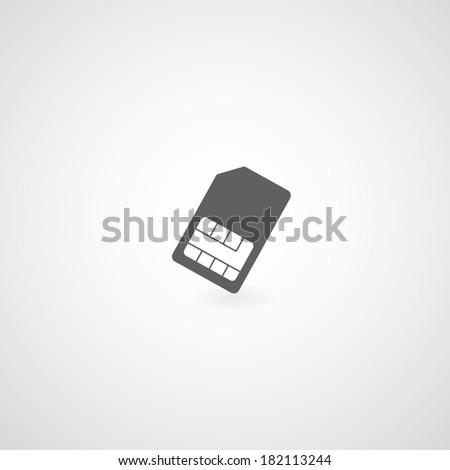 sim card symbol on gray background  - stock vector