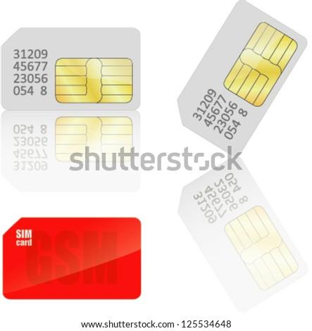 Sim Card. Vector - stock vector