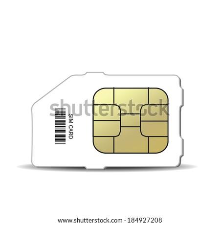 Sim card vector - stock vector