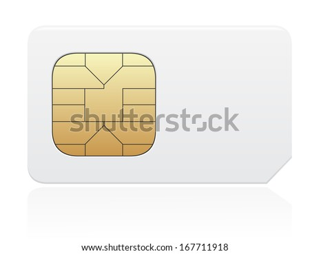 sim card vector illustration isolated on white background