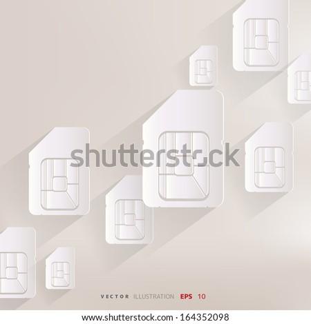 Sim card web icon - stock vector
