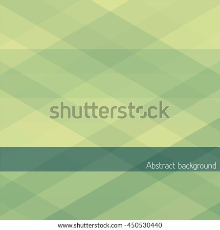 Simple abstract geometric background with green and yellow stripes. Vector graphic pattern - stock vector