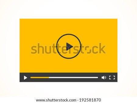 Simple abstract icon of video player. Vector illustration. - stock vector