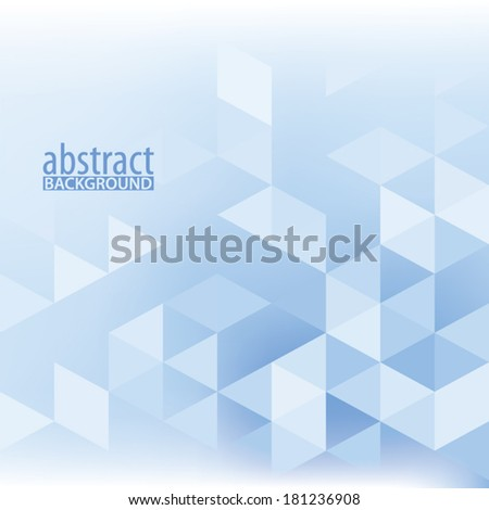 Simple abstract light blue background with triangles. Vector - stock vector