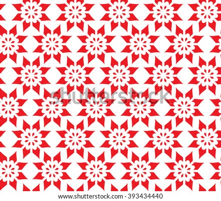 Simple Abstract Seamless Pattern of Flower, Vector Illustration EPS10 - stock vector